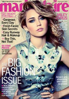Miley Cyrus in Marie Claire