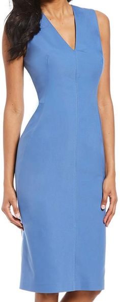 d09d14e71b47 Antonio Melani Bria Sleeveless Sold Sheath Midi Dress #Bria#Sleeveless# Antonio
