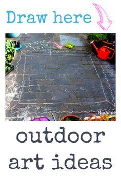 Fun outdoor art ideas for kids Outside Activities, Activities For Boys, Art Activities, Outdoor Activities, Outdoor Art, Outdoor Play, Clever Kids, Outdoor School, Outdoor Learning