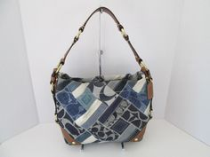 COACH CARLY PATCHWORK BAG PURSE DENIM - I love this one, don't use it much