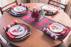 Kid's Christmas table set up!