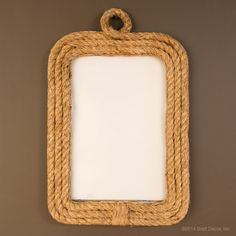 Rope Wall Mirror - Bratt Decor Perfect for any nautical theme, this unique rope wall mirror is specially hand crafted from jute. Hangs vertically and fits perfectly in any space.