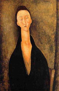 Lunia Czechowska Amedeo Modigliani Museu de Arte Assis Chateaubriand Painting - oil on canvas Amedeo Modigliani, Modigliani Paintings, Italian Painters, Italian Artist, Paul Cezanne, Art Moderne, Pablo Picasso, Art Reproductions, Oeuvre D'art