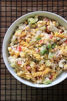 Polish Recipes, Tortellini, Pasta Salad, Ethnic Recipes, Blog, Fit, Crab Pasta Salad, Shape, Cold Noodle Salads
