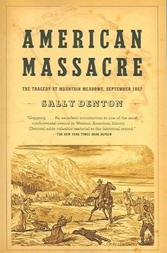 In September 1857, a wagon train passing through Utah laden with gold was attacked. Approximately 140 people were slaughtered; only 17 children under the age of eight were spared. This incident in an