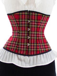 (http://www.orchardcorset.com/corsets/steel-boned-underbust-corset-in-plaid-cs-411/)