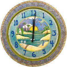 "Sticks Clock Walk on the Beach 36"""