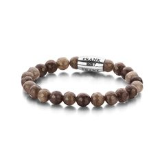 7FB-0061 – Natural stone bracelet   Brown / Rose Gold   Steel   one-size (18 cm) – Welcome to Frank1967 Shop Stone Bracelet, Natural Stones, 18th, Beaded Bracelets, Rose Gold, Jewelry, Shop, Armband, Jewels