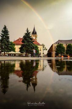 Reflections & Rainbow over Baia Mare, Romania