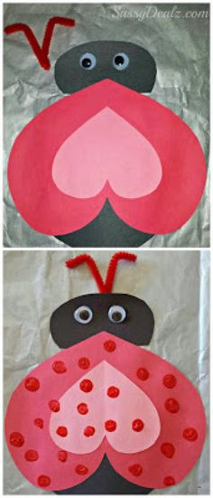Heart Ladybug Valentines Day Craft For Kids - Crafty Morning . Heart Ladybug Valentines Day Craft For Kids – Crafty Morning Valentine's Day Crafts For Kids, Valentine Crafts For Kids, Valentines Day Activities, Daycare Crafts, Classroom Crafts, Preschool Crafts, Kids Diy, Valentine Ideas, Valentines Day Bulletin Board