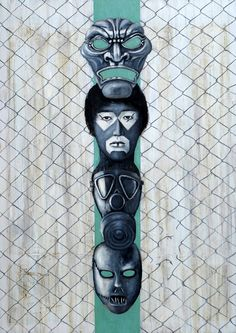 -Totem- by Gunter Pusch, oil, acrilic on canvas, 140x100cm 2014