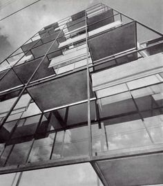 Detalle de la fachada, Edificio Copenhague, Copenhague 30 Col. Juárez. México DF 1957 Arqs. Ramón Torres Martínez y Héctor Velázquez Foto: Guillermo Zamora