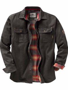 See Legendary Whitetails Mens Journeyman Rugged Shirt Jacket, . Flannel lined and rugged cotton suede look. Hooded Flannel, Flannel Jacket, Shirt Jacket, Mens Flannel Shirt, Camo Shirts, Jacket Men, Military Jacket, Estilo Rock, Retro Shirts