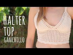 Top de verano con detalle en punto fantasía tejido a crochet / Talla S  (¡incluye diagramas!) - YouTube