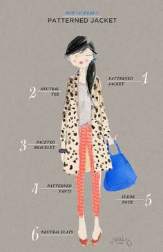 How to wear a patterned jacket