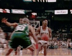The GOAT with a backwards scoop shot against the Bucks in Chicago.