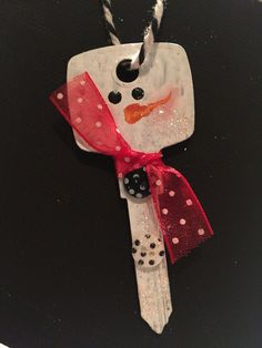 Upcycled Key Ornament -Snowman  This ornament will get people talking!! A unique fun gift to share or enjoy for yourself