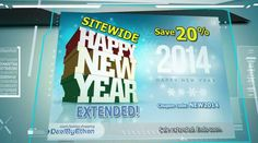 http://www.dealbyethan.com | DealByEthan 6 January 2014 Video 3 | New Year/New Site Special Extended! You can still have 20% sitewide for a limited time. Ends soon. Login at http://www.DealByEthan.com/ and use coupon code NEW2014 when paying for your items. Happy New Year! Here's to a great 2014!