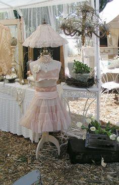 Blossoms Vintage Chic: Chateau De Fleurs Marketplace... Dress Form Lamp