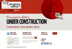 Cool Under Construction Theme - ThemeForest Previewer - via http://bit.ly/epinner