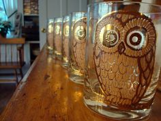 Sweet Lord! Vintage owl glasses!