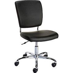 Staples 27373 Nadler Luxura Office Chair, Armless, Black | Staples