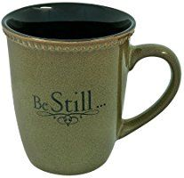 "Sage Green ""Be Still"" Verse Mug #amazon #affiliate"