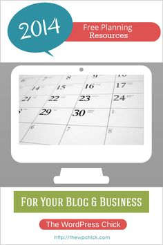A handful of Free 2014 Planning Resources for your #Blog & #Business. Enjoy! http://thewpchick.com/free-2014-planning-resources-blog-business/