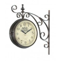 Victoria Station Double Sided Wall Clock London: Home  I think a train clock would look great in the dining living room