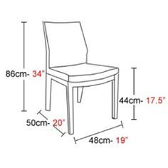 dining chair measurements - Google Search