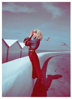 britt maren photos2 Britt Maren Gets Cinematic for Koray Birand in Elle Russia September 2013