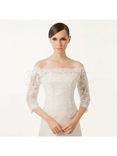 Great Sale on Cheap 3/4 Sleeved Lace Fall Bridal Jacket MS88XO155