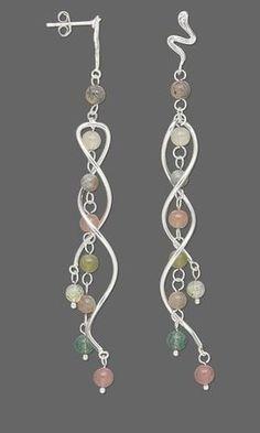 Gold Chandelier Earrings, Gemstone Dangle Earrings with Ametrine and Smoky Quartz, Purple Brown Stone Bohemian Jewelry, aubepine