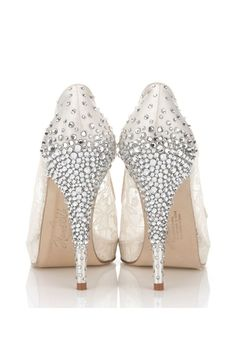 Wedding Inspiration: Rhinestone Bridal Shoes. #weddings #rhinestones #shoes