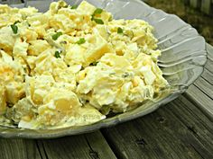 German Potato Salad  Mix 1/2 cup mayonnaise and about 1/4 cup dill pickle juice until creamy. Cook, cool and cube 2 lbs Yukon potatoes, add chopped: 2-3 hard boiled eggs, 2-3 dill pickles, 3 green onions or am red onion for color, 2 tsp dill, salt and pepper.  Refrigerate 1 hr before serving. Add more onion to garnish. Also can add Apple or pineapple.