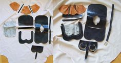 Unassembled pieces and partially assembled purse. Wish this still had its source linked...
