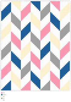 Living the Craft Life: Herringbone Blanket – Free Graph - Herringbone Blanket - Free Graph Crochet Pixel, Crochet C2c Pattern, C2c Crochet Blanket, Tapestry Crochet Patterns, Crochet Chart, Crochet Stitches, Knitting Patterns, Diy Crochet, Cross Stitching