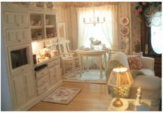 Great Room. Adorable dining table and tons of little details everywhere you look.