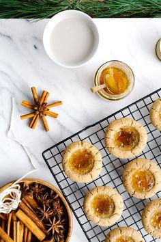 Almond Thumbprint Cookies w/ Orange Cardamom Jam {Vegan} by Faring Well