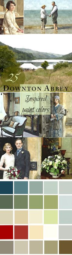 A 25-Color Whole House Paint Palette - featuring 25 wonderful Benjamin Moore colors inspired by Downton Abbey!