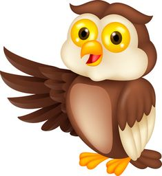 Owl reading clip art