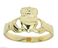 Rings 98487: New Ladies 10K Or 14K, Yellow Or White Gold Irish Celtic Claddagh Ring -> BUY IT NOW ONLY: $277.71 on eBay!
