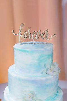 Watercolor cake with