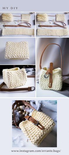 a summer handbag made of knitted yarn ... for 3 hours