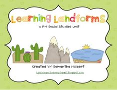 This 54 page landforms unit is filled with nine engaging activities. This unit was created for a first grade class but, it could also be used in ki...