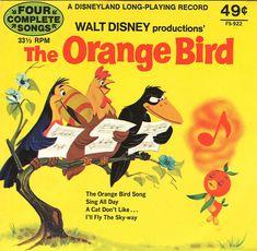 Orange Bird Was Featured on Several Vinyl Records Sold at the Emporium at Magic Kingdom Park