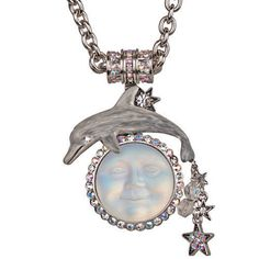 Kirks Folly Seaview Moon Garden Magnetic Enhancer Necklace Silvertone | eBay