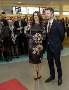Crown Princess Mary and her husband Crown Prince Frederik, at the inauguration and the opening of the Pas De Deux Royal, an artistic meeting exhibition, at the Aros Aarhus Museum, 11.10.13