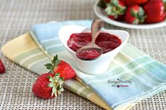 Truly Sugar-Free Strawberry Jam by LivingHealthyWithChocolate.com