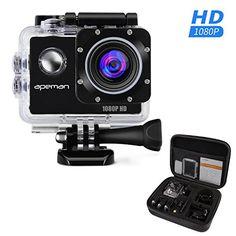 APEMAN Sports Action Camera 12MP Full HD 1080p Action Cam Wasserdichte Action Kamera Helmkamera mit Transporttasche und Zubeh�r Kit